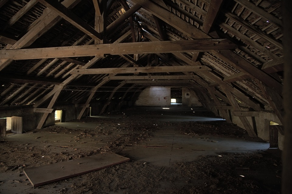 Attic, Empty, Wood, Abandoned, Old, Dark, Dirty, Dusty