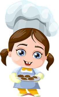 Girl, Cookies, Cooking, Cook, Little