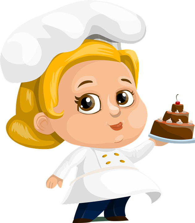 Image result for cake cartoon girl