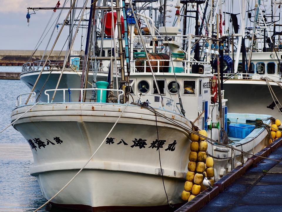 漁船, 漁港, 北海道