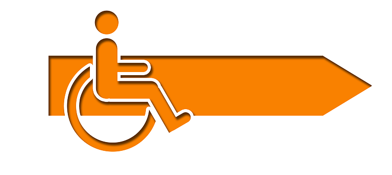 Arrow, Direction, Wheelchair, Handicap