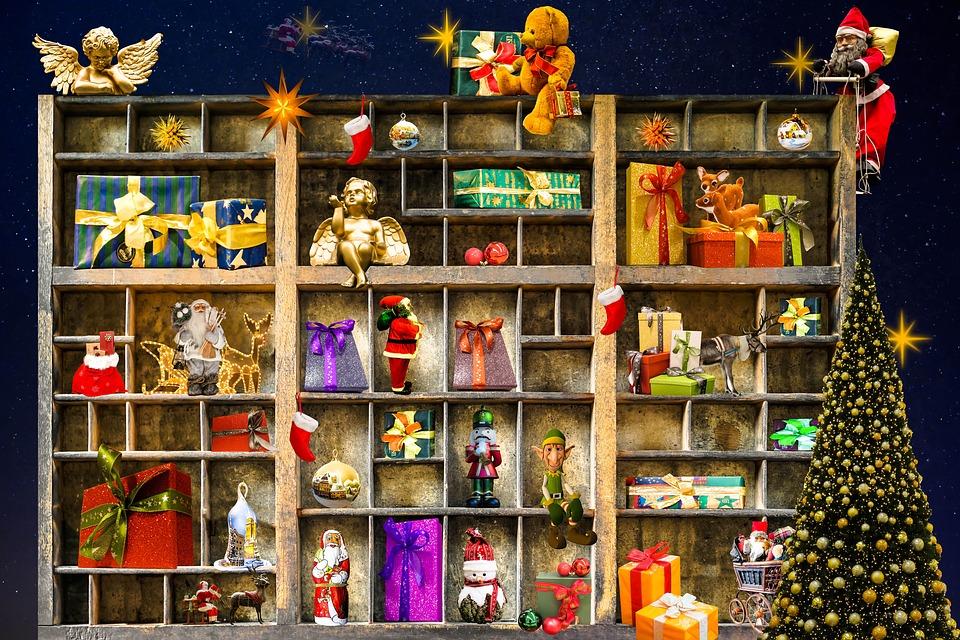 무료 일러스트: 크리스마스, 크리스마스 선물, 천사, 크리스마스 ...