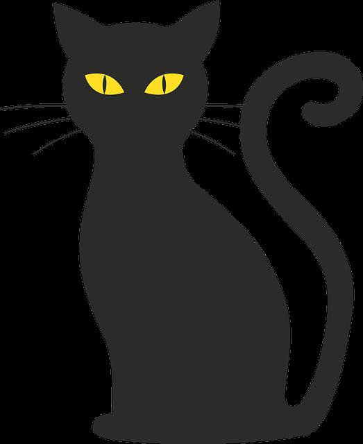 Zadarmo vektorov grafika ma ka halloween silueta El gato negro decoracion