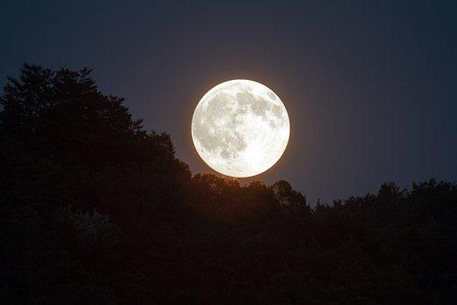 purnama langit malam cahaya bulan