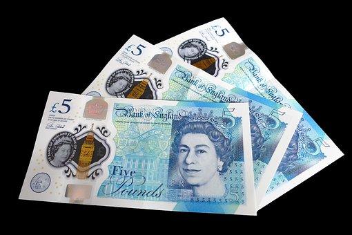Five Pound Note, Cash, Money, Pound