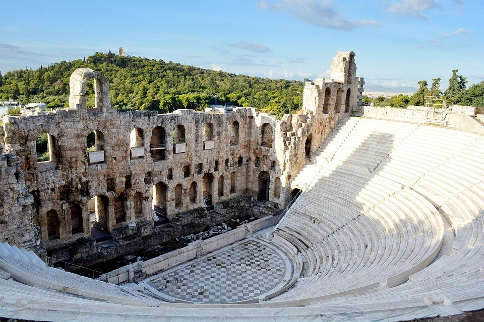 Grèce, Athènes, Parthénon, Acropole, Théâtre, Histoire
