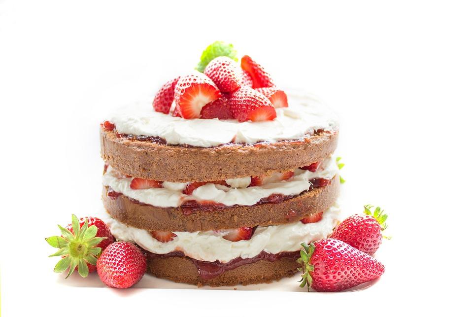 Torta, Infornare, Cioccolato, Fragola, Crema, Sweet