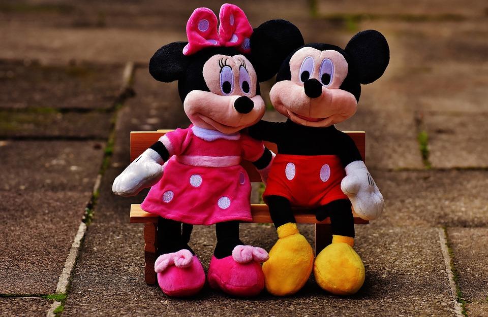 ミッキー マウス, ディズニー, ミッキー, ミニー, マウス, かわいい, 動物のぬいぐるみ, ぬいぐるみ