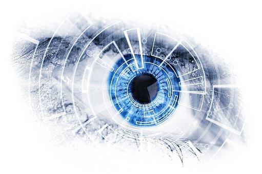 Machine, Mechanical, Eye, Blue, Look