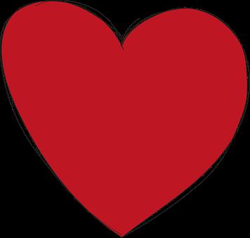 Hjärta, Röd, Rött, Kärlek, Form