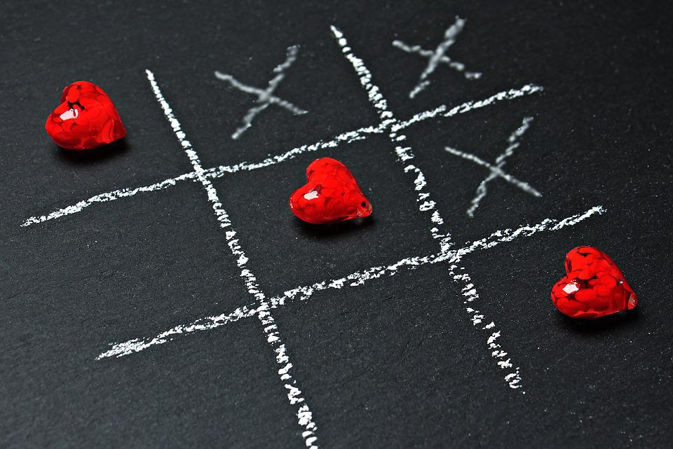 Tic Tac Toe, Love, Heart, Play, Strategy Game