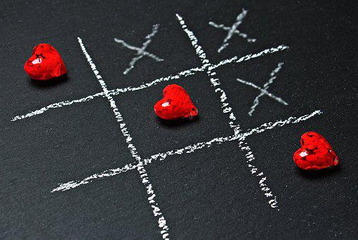 Tic Tac Toe Love Heart Play Ankreuzen Stra