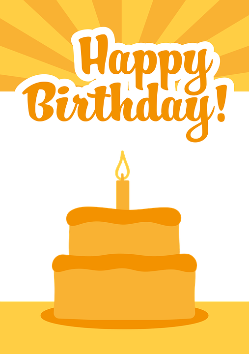 Birthday All Good Orange Greeting Free Vector Graphic On Pixabay