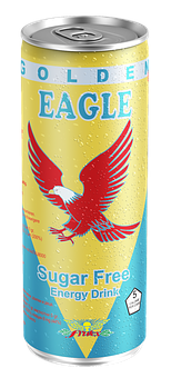 Golden Eagle, Energy, Drink, Can