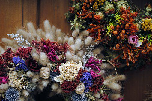 Floral, Wreath, Decoration, Laurel