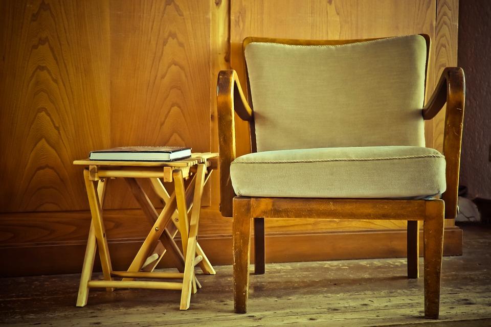 Sessel, Tisch, Möbel, Sitzen, Gemütlich, Denken