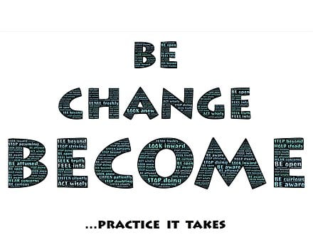 Be, Change, Become, Practice, Motivation