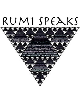 Inverted Pyramide  image with words Rumi speaks for 301 inspirational and motivational quotes