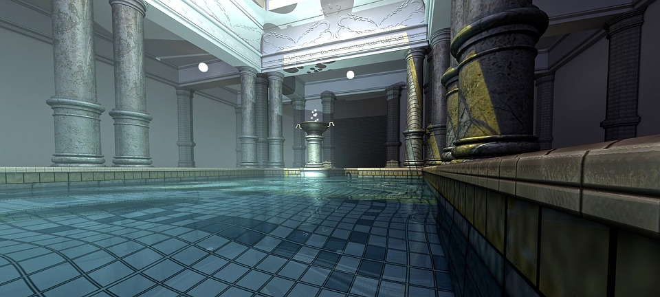 kostenlose illustration: badezimmer, malerei, galerie, bad, Badezimmer ideen