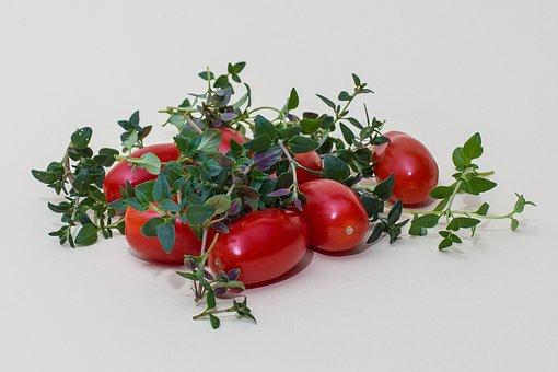Kruiden, Tijm, Tomaten, Keukenkruiden