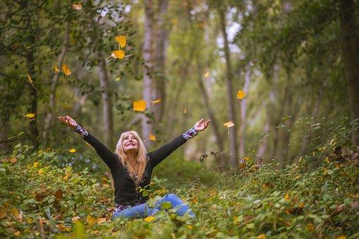 Árvores, Floresta, Pessoas, Mulheres