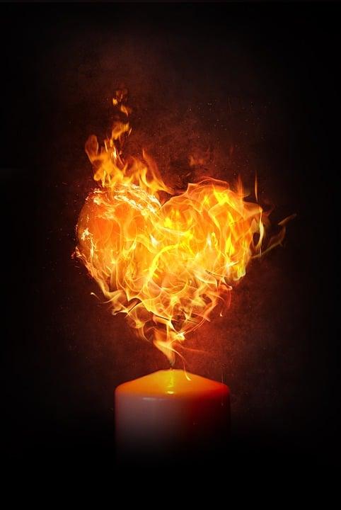 心, 火, 炎, キャンドル, 燃やす, 愛, ブレイズ, ・ ヘイス ・ ジェンキンス, バレンタインデー