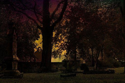 Halloween, Cemetery, Weird, Creepy