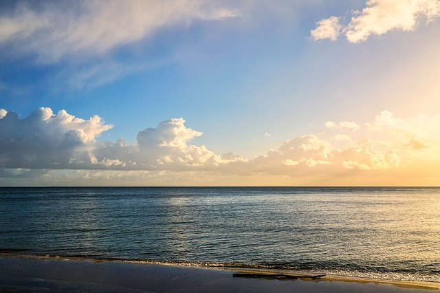 Beach Sand Clouds Sea Caribbean Water Peaceful: Free Photo: Seashore, Clouds, Water, Beach