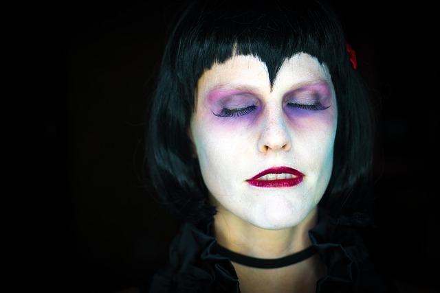 kostenloses foto: vampir, weiblich, frau, halloween