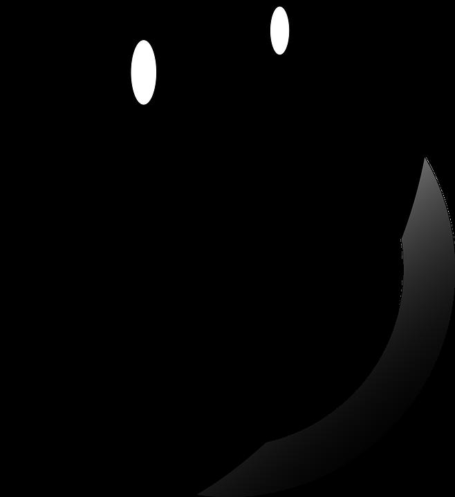 Image vectorielle gratuite smiley douce yeux noir image gratuite sur pi - Smiley en noir et blanc ...
