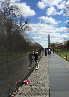 Clouds, Vietnam, Memorial, Dc