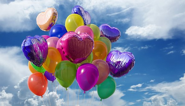 Happy BirthdayBirthday Balloons Party Colors Rubber Fly
