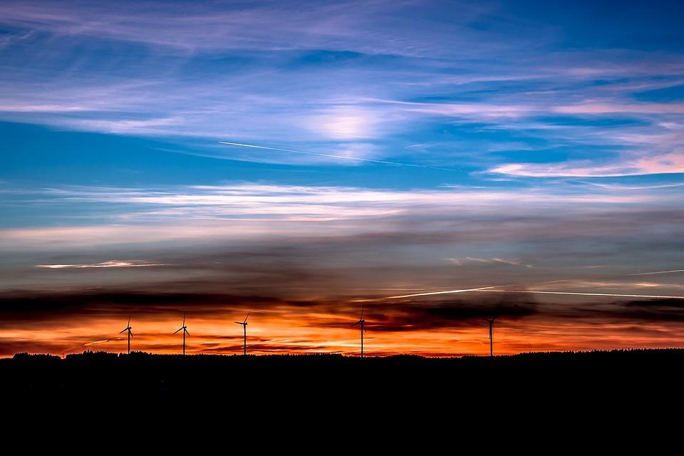 Tramonto, Energia Eolica, Energie Rinnovabili