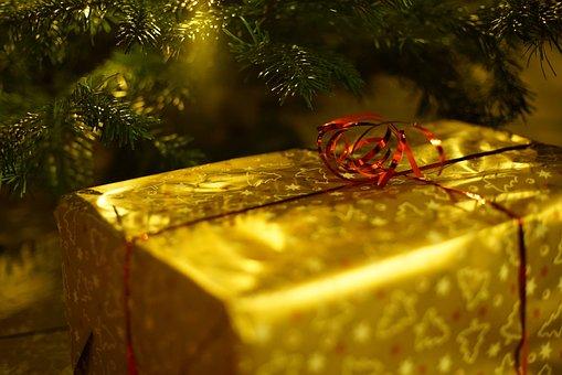 クリスマス, ギフト, 装飾, サンタクロース, 祝う, グリーティング カード