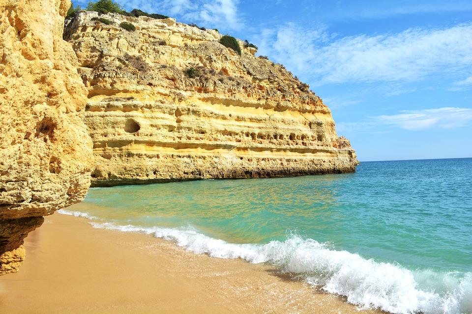 Praia Da Marinha, Portugal, Algarve, Mer Bleue