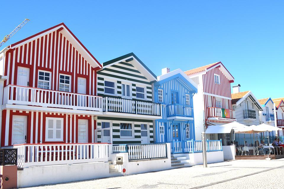 Colorful House free photo: aveiro, colorful houses, portugal - free image on