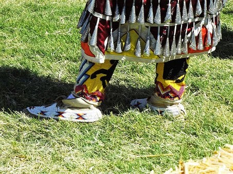 Beaded, Moccasins, Regalia, Native