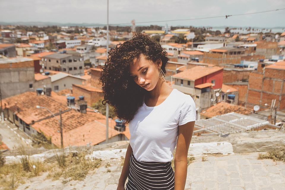 Girl, Curly Hair, Woman, Think, Feeling, Model