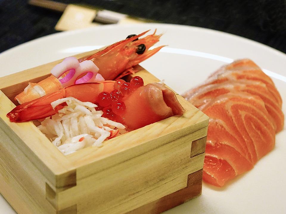 刺身, サーモン ピンクの魚, イクラ, 食品, 魚介類, 日本, 生, 新鮮な, 伝統的なグルメ