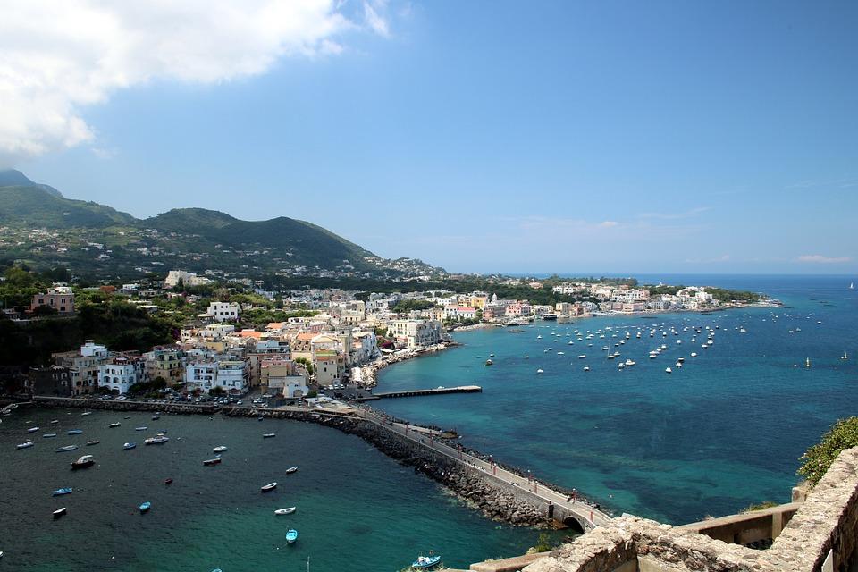 Ischia, Italia, Mar Mediterraneo, Isola, Mare