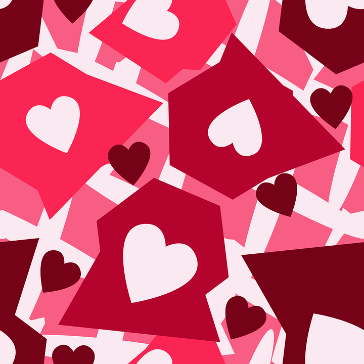 Pink Hearts Pattern - Free vector graphic on Pixabay
