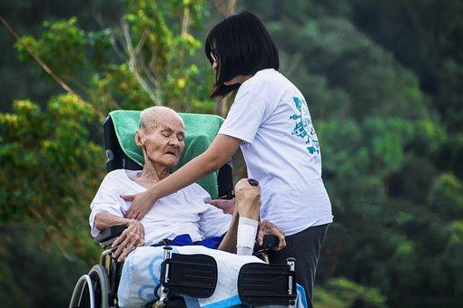 ホスピス, 思いやりのあります, 看護, ケア, 古い, 高齢者, 患者