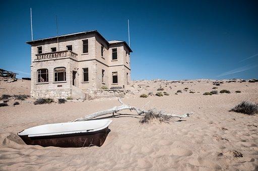 Africa, Namibia, Kolmanskop, Ghost Town