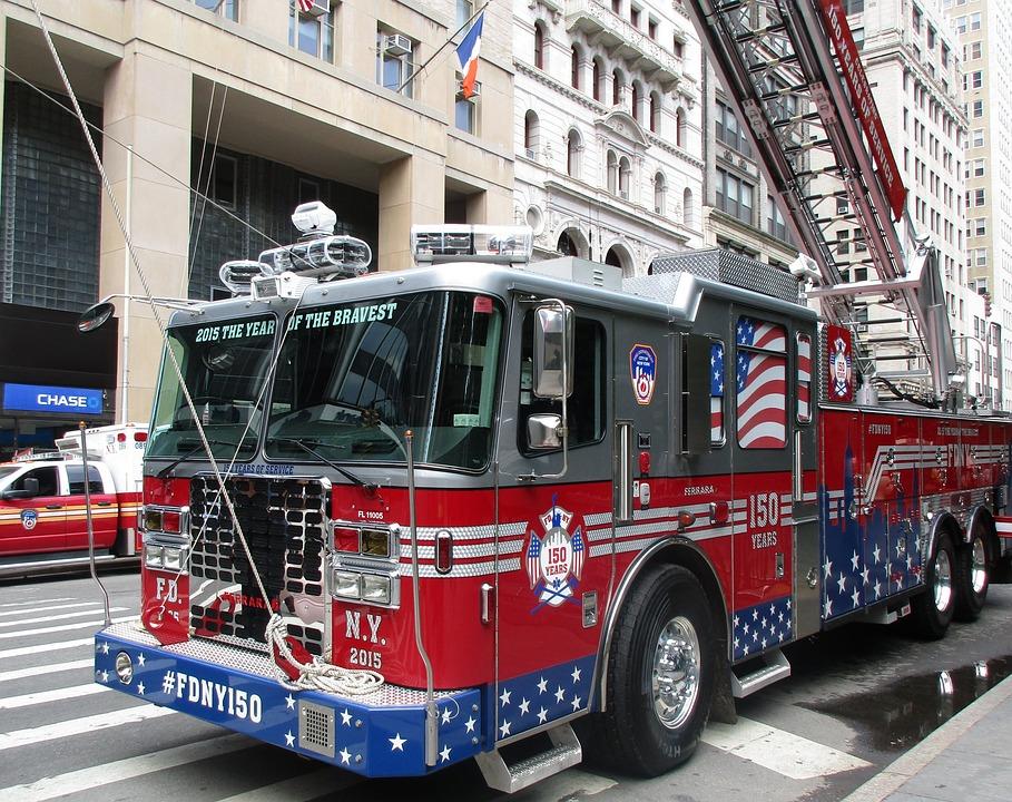 tűz kék fény tűzoltókocsi amerikai · ingyenes fotó a
