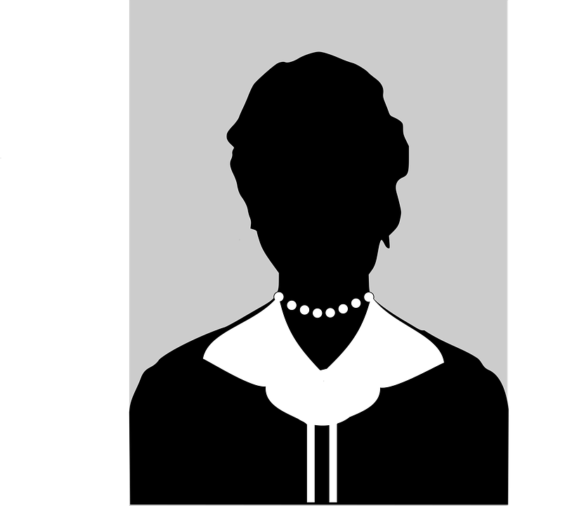 silhouette female black and white  u00b7 free vector graphic on pixabay