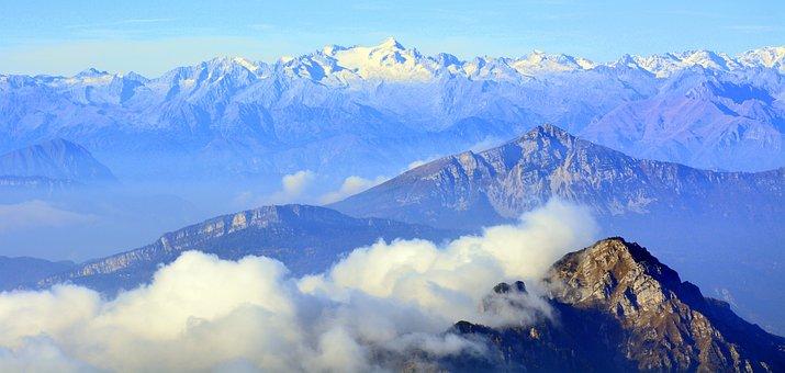 Adamello, Cima, Montagna, Nuvole