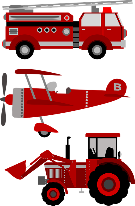 Firetruck Plane Tractor · Free vector graphic on Pixabay