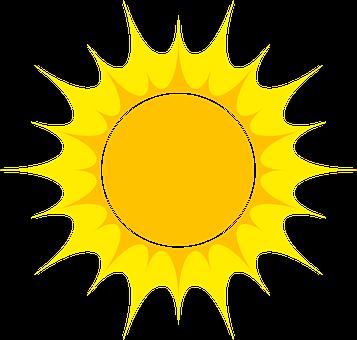 Sun Astro Vector Ray Lights Ecological Lig