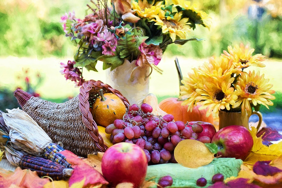 Cornucopia, Ringraziamento, Autunno, Caduta, Frutta