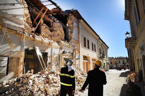 地震, 地震イタリア, ノルチャ, サン ・ ベネデット ・ ノルチャ地震